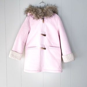 Girls sz 5 Sherpa and Sueded Winter Coat